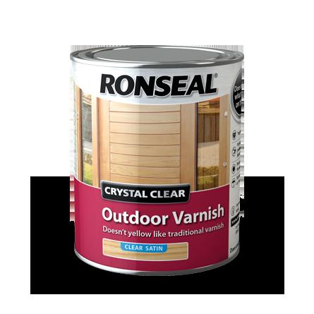 ronseal crystal clear outdoor varnish matt satin - Garden Furniture Varnish